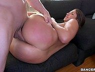 Big-butted young woman Abella Danger gets off because of being pussy fucked by Jmac