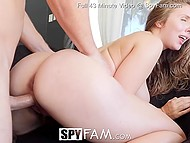 Whore like Lena Paul has already tested all the cocks around and now it's stepbrother's turn