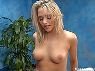 Oiled up masseuse Mia Malkova jumps on customer's prick for unforgettable ride 7