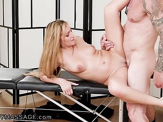 Athletic stepdad realizes that there's been a mistake but doesn't leave Latina girl Moka Mora and fucks her