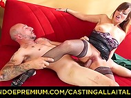 Italian stud Omar Gallanti acquaints classy MILF Asia X with world of good drilling