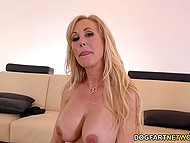 Black men want to talk about business but lustful MILF Brandi Love thinks threesome is more important 11