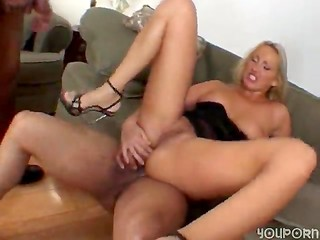 Hungarian blonde with wet pussy gets two cocks at once