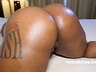 Amateurs film porn videos and convince Ebony BBW with pierced nipples to spread legs on camera 8