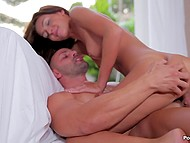 Charming girl and her boyfriend are always happy to have days off because they can devote time to sex 7
