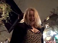 Blonde woman from UK always keeps dildo in pocket to masturbate pussy in the street anytime she wants 11