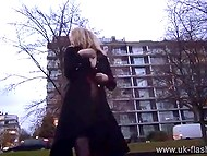 Blonde woman from UK always keeps dildo in pocket to masturbate pussy in the street anytime she wants 5