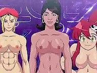 Guy comes into a special chamber where fulfills sexual fantasies fucking famous cartoon girls 6