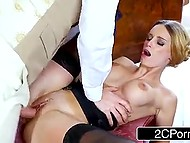 Portuguese housemaid with big breasts doesn't want to be in trouble nevertheless she can't refuse sex