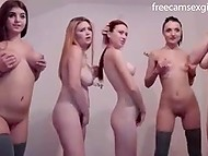 Young girls with wonderful naked bodies dance on webcam and energetically masturbate pussies