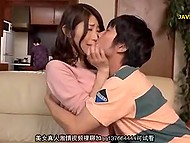 Excited Japanese boy brazenly caresses amazing boobs of his attractive stepsister 4