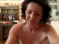 Porn director visited mature woman in a shop and fucked her on camera in front of mirror 6