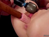 BDSM-slaves have experience in fetish-fucking so thick cocks and toys easily enter pussies and assholes 7