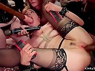 BDSM-slaves have experience in fetish-fucking so thick cocks and toys easily enter pussies and assholes 9