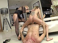 Slave Pamella takes part in nasty anal threesome with famous director and his assistant