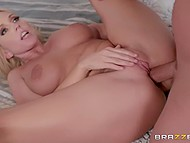 Smoking-hot MILF Christie Stevens catches stepson jerking off and guy's cock drills her ass soon 10