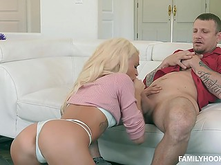 Man needs to do two things namely to fuck light-haired stepdaughter and keep it secret from wife