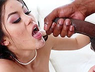 Black whores aren't interesting for Ebony womanizer so he is fucking trimmed pussy of Asian 11