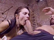 Bald master gives submissive whore unforgettable anal dicking that makes her scream 8