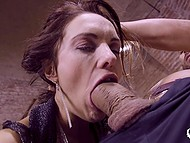 Bald master gives submissive whore unforgettable anal dicking that makes her scream 9