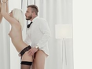 Babe in black stockings doesn't want to do chores because all she needs is penis in cunt 8