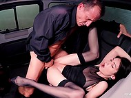 Brunette girl wants to be fucked by an experienced man and personal driver should be a good fucker