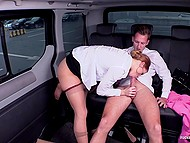 Driver is so horny with playful passenger and his mind gets out of control in desire for pussy penetration 6