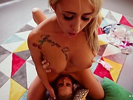 Hungarian babes Christina Shine and Sicilia Model finished exhausting sex cumming simultaneously 5