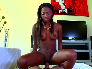 Lover penetrates exotic girlfriend who in the end gladly receives cum on her comely face