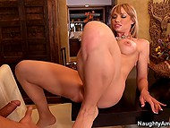Aroused man cheats on spouse with her classy friend Maya Hills who loves unstoppable sex 4