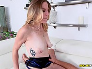 Middle-aged woman enjoys a thing that husband can't give her namely hard young cock inside pussy 5