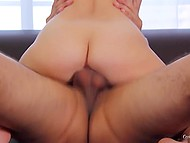 Love with black hair moans and receives pecker in pussy like a full-blown whore at casting 8