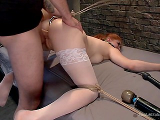 Slutty girl never refuses if guy is offering her hardcore anal fucking in BDSM style
