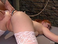 Slutty girl never refuses if guy is offering her hardcore anal fucking in BDSM style 6