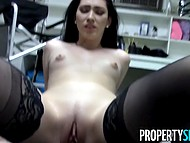Filthy nature of innocent girl blows her mind and makes open thighs for random man in office