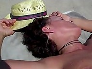 A lot of women walk on the beach being naked on a sunny day and voyeur films them 4
