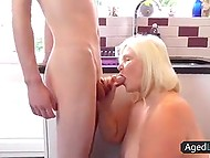 Young neighbor guy comes to old BBW and she decides that this is her chance to take cock in cunt 4