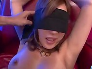 Guy masturbates Japanese pussy and it turns him on so much that he cums on girl's face 8