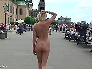 City daily life is disturbed after two girls appear in the streets and walk around being naked