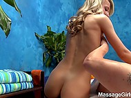 Charming masseuse makes a pleasant surprise for client sucking and riding his cock 7