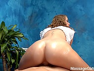Masseuse in black panties will make client happy for a long time riding hard cock on camera 11