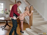 Secret agent dressed like maid Liza Del Sierra has fun with huge dick of her rival 9