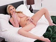 Alluring British porn actress Georgie Lyall can turn a solo scene into a fascinating show 7