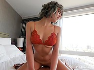 Porn-agent momentarily responded to a silent request of half-naked Latina about rough fucking 8