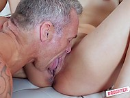 Two men are very lucky because they fuck splendid stepdaughters after girls suck their cocks 8