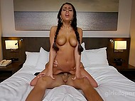 Young man doesn't even know what he loves more about female: boobs or awesome braid but she is great at cock-riding 4