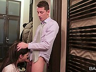 Boss' assistant is filled with strong passion and it will be overcome after young man fucks her 4