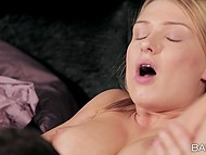 Sweet blonde Lucy Heart puts on sexy lingerie and is ready for sensual sex with her man 4