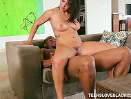 Drunk stepmom is sound asleep so Keisha Grey and black stallion have time to practice sex 6