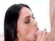 Busty Latina girl Jasmine Caro is one of the girls who has smooth pussy that any guy fucks with pleasure 5